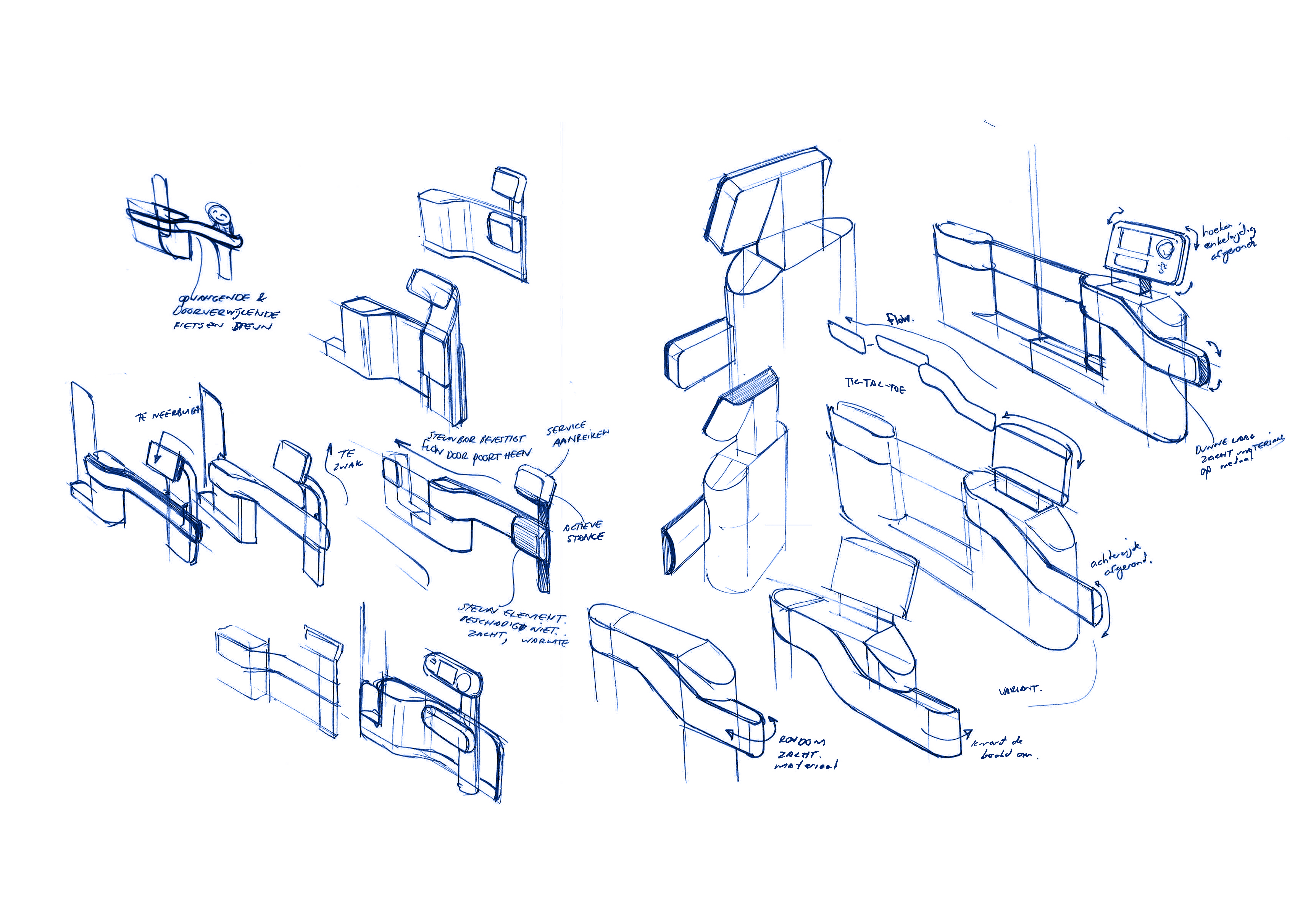 Self service bicycle gate sketches