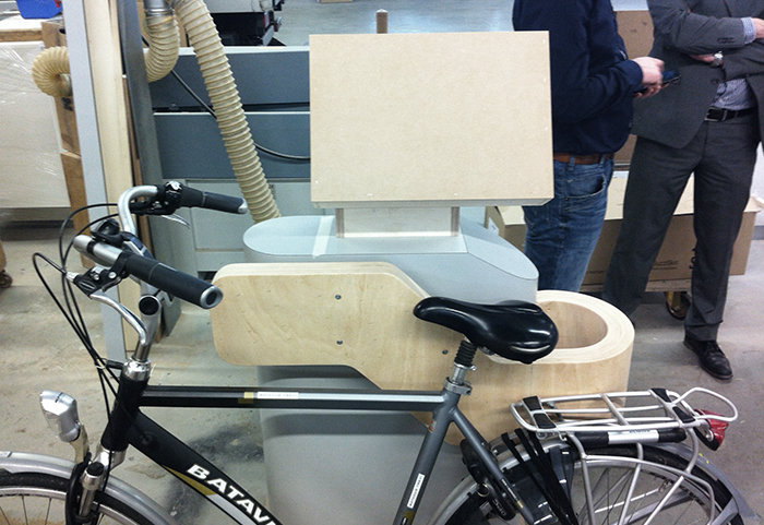 Self service bicycle gate mock up by van 't Wout